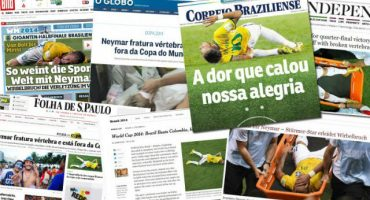 La lesión de Neymar en las portadas de diarios deportivos
