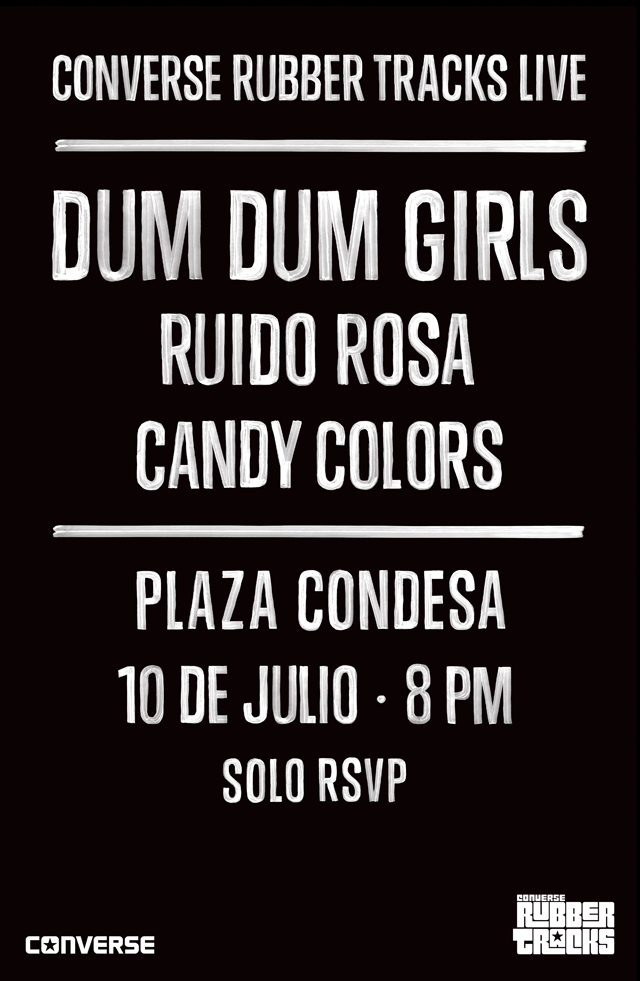 ¡Gana boletos para los shows de Converse Rubber Tracks con Dum Dum Girls y Washed Out!