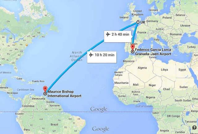 Demanda a línea aérea que lo mandó a Grenada y no a Granada