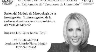No, Laura Bozzo no dará conferencia en la UNAM