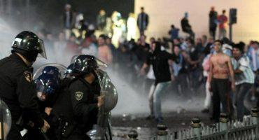Galería: Disturbios en Argentina por su segundo lugar (hay detenidos)