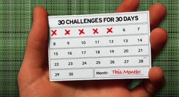 ¿Te atreves a cumplir estos 30 retos, durante 30 días?