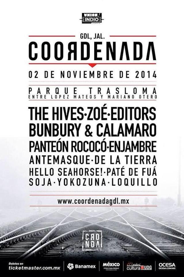 The Hives, Editors y más en el festival Coordenada de Guadalajara