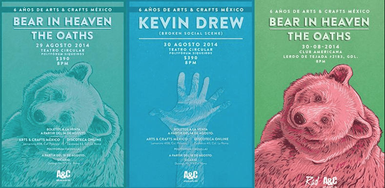 Bear in Heaven, Kevin Drew y The Oaths en México