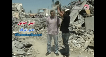 Esto es el Ice Bucket Challenge versión Gaza #RemainsBucketChallenge