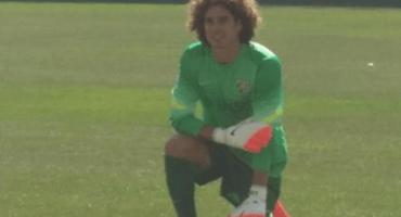 El primer entrenamiento de Memo Ochoa con el Málaga