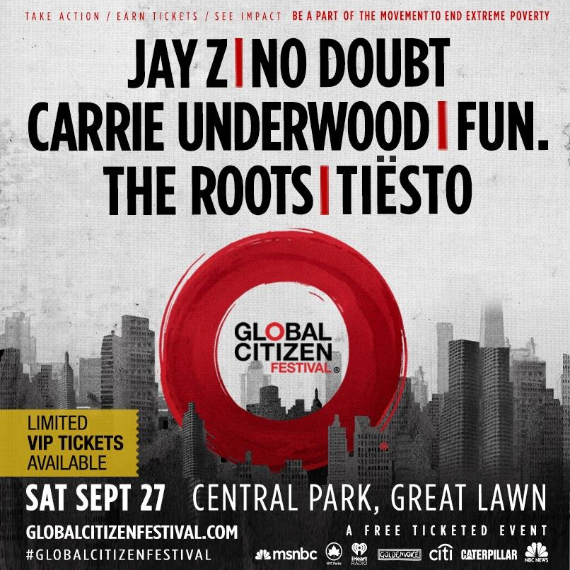 Jay Z, No Doubt y más en el Global Citizen Festival 2014 en NY