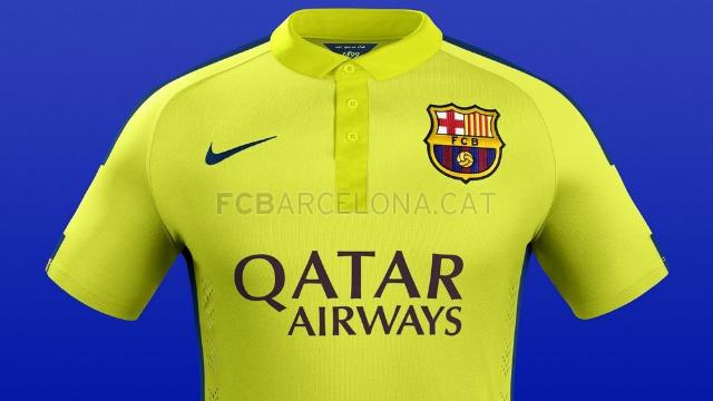 El tercer uniforme del Barcelona 2014-2015 be98e33cc74