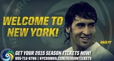 Oficial: Raúl González ya es jugador del New York Cosmos de la MLS