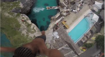 Un salto de 30 metros no apto para acrofóbicos