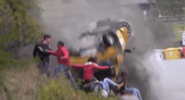 Microinfarto: De milagro no los aplastó un carro en un rally en Italia