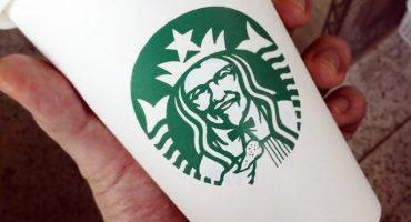 Ilustraciones hechas con el logo de Starbucks
