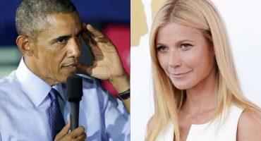 ¿Aplicando las de EPN? Obama se deja chulear... por Gwyneth Paltrow