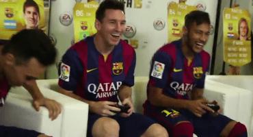 Así se divierten los jugadores del Barcelona jugando FIFA 15