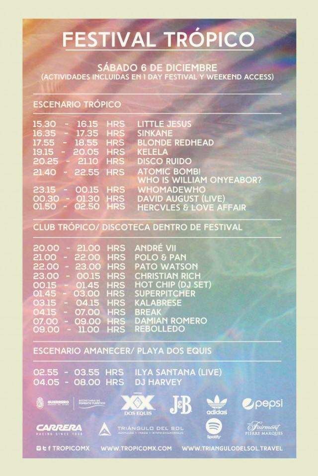 Consulta el programa del festival Trópico (horarios y line-up completo)