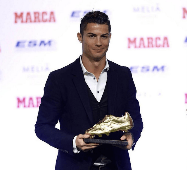 98fa031504 Cristiano Ronaldo recibió la Bota de Oro