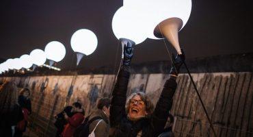 Así celebraron los alemanes los 25 años de la caída del Muro de Berlín