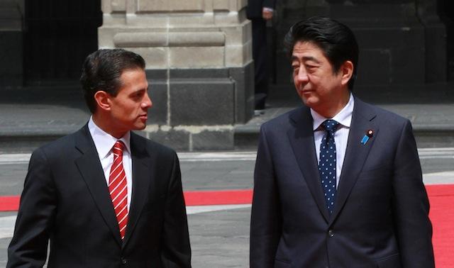 Shinzo Abe y EPN