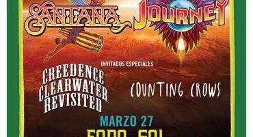 Santana, Journey, Counting Crows y CCR en México
