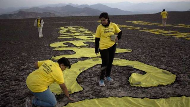 Perú denuncia a Greenpace por daños en las líneas de Nazca