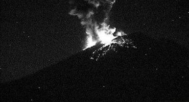 El Popocatépetl registró anoche una explosión (+Video)