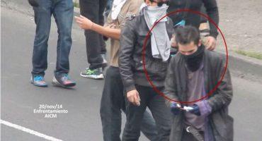 Las fotos que implican a Sandino Bucio en los disturbios violentos del 20NovMx