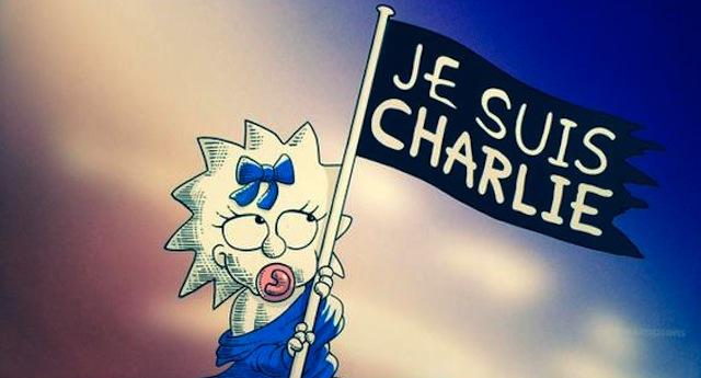 Los Simpson, se unen a las protestas por el ataque a #CharlieHebdo