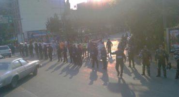 Protestan en Eje 5 Sur e Insurgentes contra parquímetros