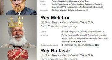 Los Reyes Magos buscan trabajo en Linkedin