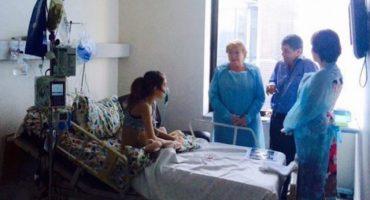 Michelle Bachelet visita a Valentina, la niña que le pidió eutanasia