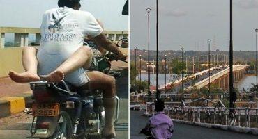 Captan a pareja teniendo sexo en motocicleta en movimiento
