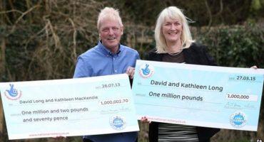 Ganan lotería 2 veces: La probabilidad es de 283 billones a 1