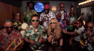 Para que empiecen bien el fin de semana: Madonna, The Roots y Jimmy Fallon tocando