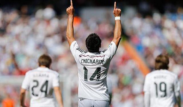 Mira el gol de Chicharito Hernandez en el triunfo del Real Madrid