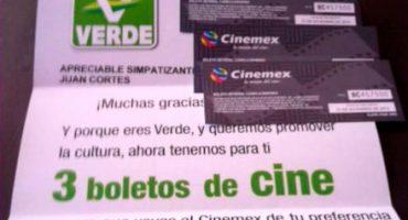 Boletos de cine que regaló el PVEM quedan cancelados: INE