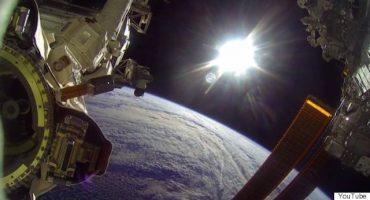 Astronautas captan caminata espacial con una GoPro