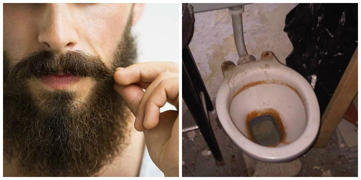 Las barbas podrían tener más rastros de popó que escusados
