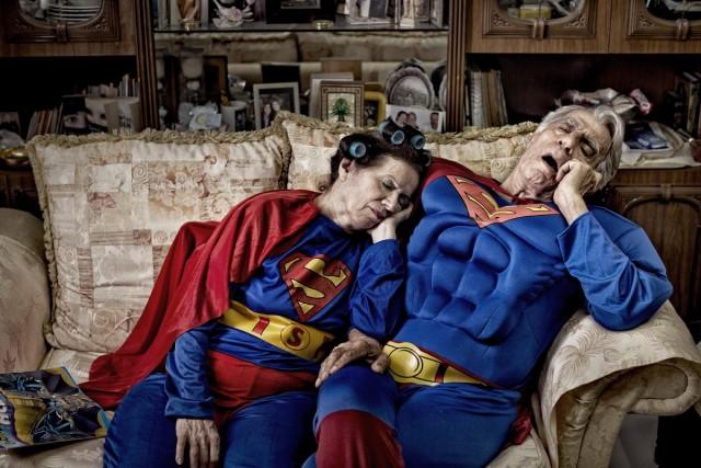 Así se verían los superhéroes en su retiro