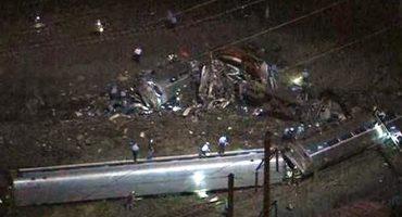 Descarrila tren de #Amtrak en Filadelfia; 50 heridos y 5 muertos