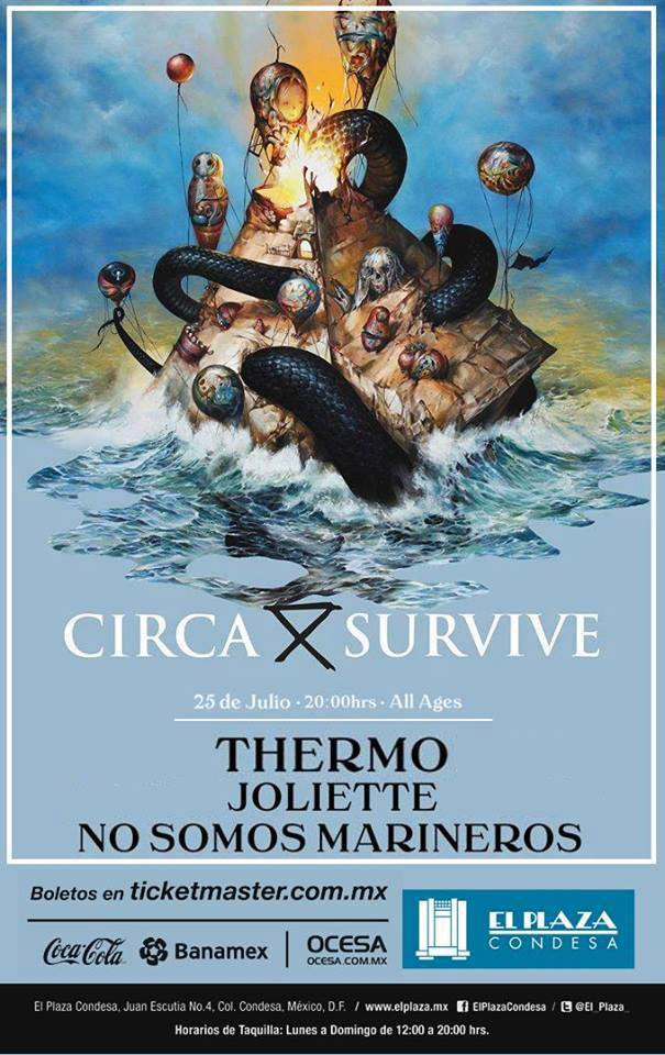 Precios e información de Circa Survive en México