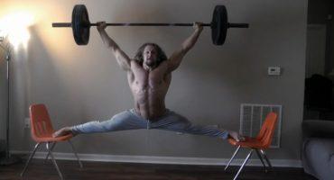 Ídolo: hace split de Jean-Claude Van Damme... cargando 45 kilos