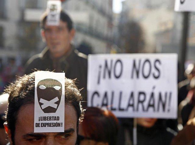 10 cosas prohibidas en la #LeyMordaza de España