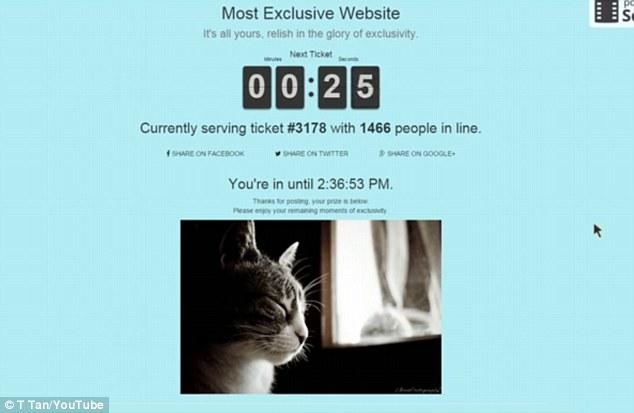 Conoce el sitio web más exclusivo del mundo