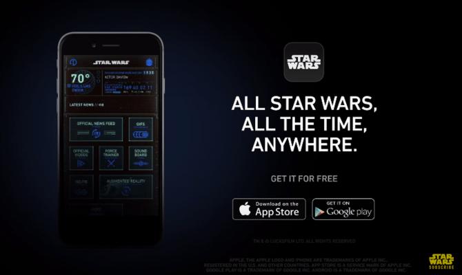 Para todos los fans, llega la app de Star Wars