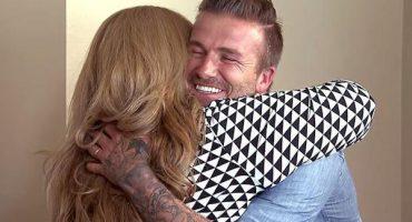 Beckham entregó 100 mil dólares a una familia mexicana