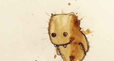 Increíbles ilustraciones a partir de manchas de café