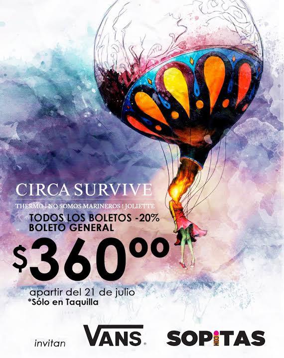 ¡Gana boletos para el concierto de Circa Survive!