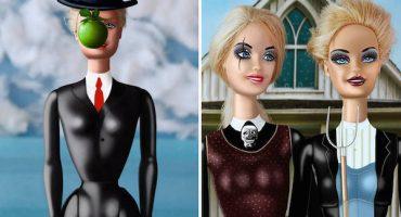 Barbie se mete en algunas pinturas emblemáticas de la historia