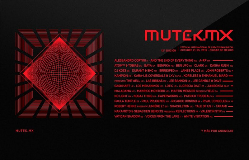 MUTEK.MX agrega más actos y colaboraciones especiales