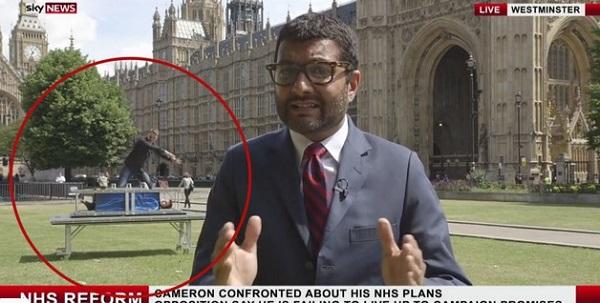 En reporte de noticias en vivo, magos crean ilusión ... por partida doble